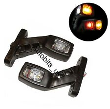 2 Pcs 24v Led Stalk Rubber Side Marker Lights For Truck Trailer Man Daf Scania