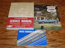 1968 Chevrolet El Camino Shop Service Manual Owners Manual Sales Brochure 68