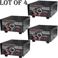 (LOT OF 4) - NEW Pyramid PS9KX 5 Amp Power Supply w/Cigarette Lighter Plug
