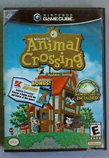 Vtg Nintendo Black Label Gamecube ANIMAL CROSSING Instruction Booklet & Case