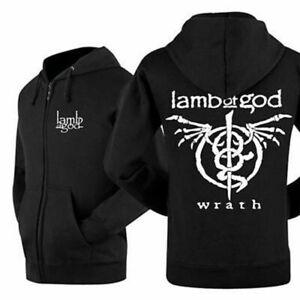 lamb of god band Zip Up Hoodie Classic Zipper Hood coat Sweatshirts leisure