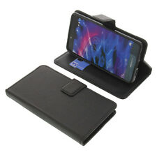 Tasche für MEDION Life X5020 Smartphone BookStyle Schutzhülle Buch Schwarz