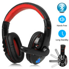 PRO Wireless Bluetooth Gaming Headset Headphones Mic LED for Games PC  Laptop UK