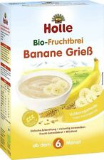 (3 Boxes ) Holle Organic Baby Porridge Cereal Semolina Banana New FREE SHIPPING