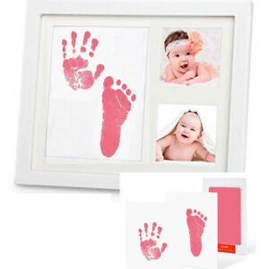 Baby Handprin Footprint Ink Pad Print Kit Pink