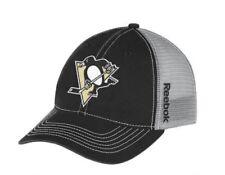best website 4a3b7 cf0b3 Pittsburgh Penguins Cap Reebok NHL Center Ice Slouch Mesh Hat