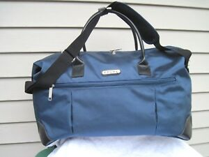 """Travelers Polo & Racquet Club Blue Workout Duffel Bag Travel Luggage 20"""" New"""