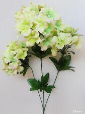 "1x 27"" Lime Green HYDRANGEA Stem Artificial Silk Flower Plant /H06"