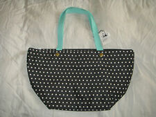 New Fossil ZB5758104 Womens Black/White Polka Dot Keyper EW Shopper Tote