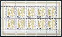 10 x Bund Nr. 1756 KB postfrisch Bogen Kleinbogen Zehnerbogen BRD 1994 Frauen