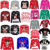 Childrens Christmas Jumpers Xmas Gift Christmas Sweater Top Unisex Soft Jumper