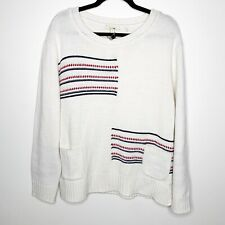 NWT Barbour Seaton Knit Wool Blend Crewneck Sweater Size US 14 Large L MSRP $149
