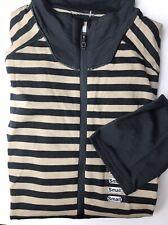 Patagonia XL Merino Wool Lightweight Zip Pullover Baselayer Shirt Striped GREY