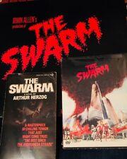 Swarm 1978 film (NEW DVD Movie Tie-In Paperback & Soundtrack Vinyl LP)