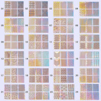 24 Sheets 3D Nail Art Transfer Stickers Manicure Tips Decal Decorations Tool DIY