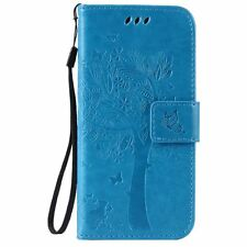 Luxury PU Leather Magnetic Flip Stand Card Slot Wallet Case Cover For LG