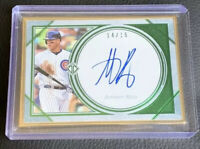 2019 Topps Transcendent Anthony Rizzo Variation Auto GREEN Parallel #14/15 Cubs