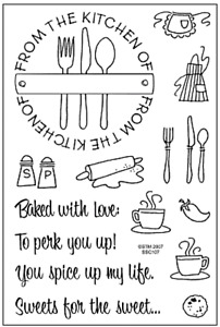 NEW Stampendous From The Kitchen Stamp Set Clear Acrylic Stamps Baking CR1