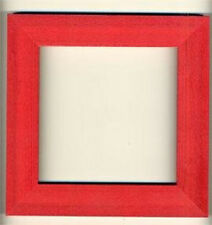"""Mill Hill Holiday Red Wooden Hand Painted Frame 6"""" x 6"""" New"""