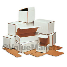 50 - 6 1/2 x 3 5/8 x 2 1/2 White Corrugated Shipping Packing Box Boxes Mailers