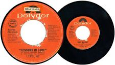 Philippines LEVEL 42 Lessons In Love 45rpm Record