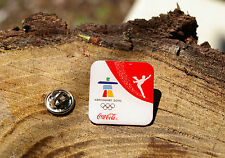 Vancouver 2010 Coca-Cola Coke Olympic Ice Skating Rings Lapel Pin Pinback