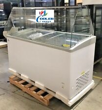 "NEW 60"" Ice Cream Gelato Glass Dipping Freezer Showcase Display Commercial NSF"