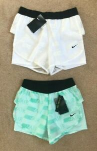 NIKE air 2 IN 1 running SHORTS SIZE XS 6 8 S 8 10 WHITE green BLACK BNWT