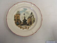 """Wedgewood Collector Plate """"Piccadilly Circus"""" England 8-1/4"""" diameter Mib"""