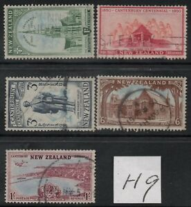 H9 ; NZ 1950 CANTERBURY CENTENNIAL ; COMPLETE SET/5 - FINE-USED