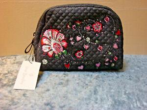 women/'s bag pouch made in Italy case coin holder jeans clutch vegan bag handmade jeans bag beauty wallet Denim zipper pouch