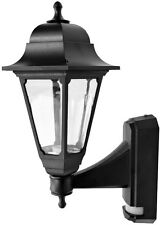 4 x ASD CL//BK100P Coach Lanterns with PIR Sensor Black Polycarbonate