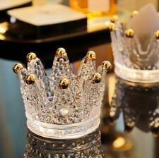 Crown Candlestick Ring Beauty Egg Tray Put Makeup Egg Shelf Jewelry Storage Box