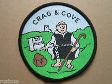 Crag & Cove 20 Miles Walking Hiking Woven Cloth Patch Badge