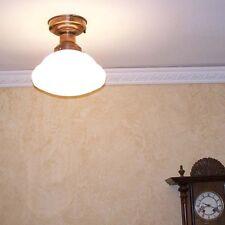 988 Vintage SchoolHouse Ceiling Light Fixture Glass bath kitchen hall office