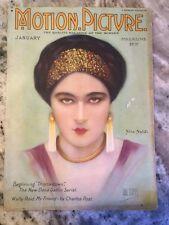 Original January 1924 Motion Picture Magazine Nita Naldi On Cover