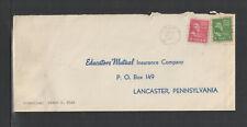 1954 EDUCATORS MUTUAL INSURANCE COMPANY LANCASTER PA US ADVERTISING COVER