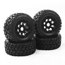 4Pcs 1/10 RC Short Course Truck Rubber Tyre Tires Wheel Rim For TRAXXAS SLASH/2K