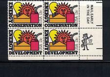 US 1977:#1724a Energy Conservation LR Zip Blk 4 NH; Solar,Oil,Electric;Lot#4/1