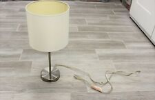 Modern Silver Table Lamp Elegant Decorative Lamp With Shade Decor