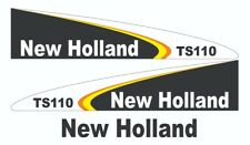 New Holland TS110 Tractor Decal / Adhesive / Sticker Complete Set