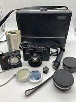 Yashica Electro 35 GT 35mm Film Rangefinder Camera 45mm 1.7 Lens + Extras