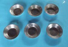6 ancien moule à tartelette Mignardise Amuse Bouche Vintage métal diamètre 6cm