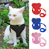 EE_ AM_ Soft Mesh Small Dog Harness And Leash Set Puppy Cat Pet Jacket Vest Lead