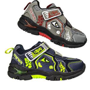 diMio DINO LED Kinderschuhe mit Blinkfunktion - Blinkschuhe Schuhe für Jungen