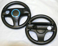 2 x Mario Kart Steering Wheels for Nintendo Wii & Wii U - Old Skool (BLACK)