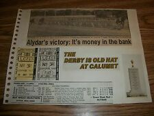 VERY RARE 2 UNCASHED TICKETS AND COLAGE OF ALYDAR