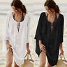 Women Summer Cover Up Kimono Wrap Beachwear Long Blouse Beach Swim Dress Bikini