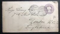 1903 Guadalajara Mexico Postal Stationery cover To London England