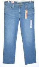 NEW Levis 518 STRAIGHT LEG Blue Mid Rise Stretch Jeans Size 14 W31 L32